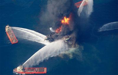 Oil Rig on Fire Blog Header Image