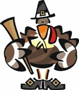 Turkey Dressed as a Pilgrim for Thanksgiving