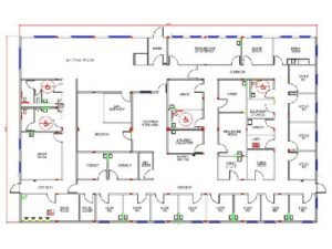 Modular medical building floor plan
