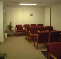 Modular medical building waiting area 1