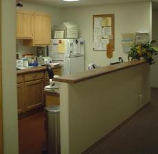 Modular medical building kitchen
