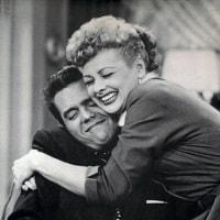 Ricky & Lucy hugging