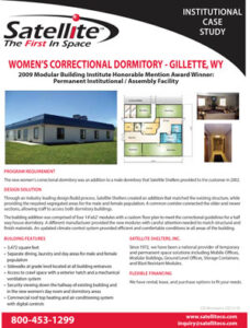 Satellite Shelters, Inc. Womens Correctional Facility