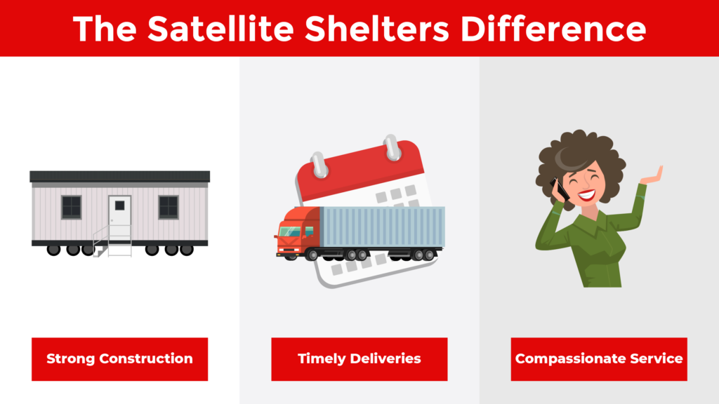 The Satellite Shelters Difference: Strong Construction, Timely Deliveries, Compassionate Service