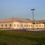 Exterior of a modular medical building.