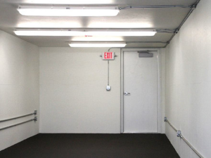Interior view of modular building.