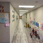interior hallway of modular educational building