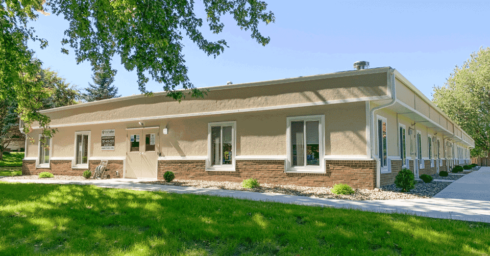 exterior of modular educational building