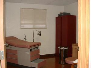Modular medical building exam room 2