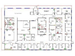Modular medical building floor plan