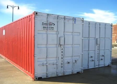 Portable steel storage containers