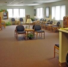 Modular medical building waiting area 2